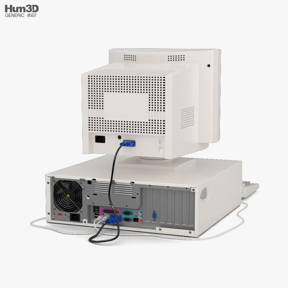 Generic Old PC 3d model