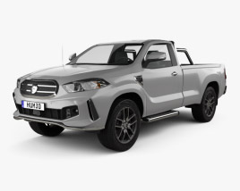Generic Single Cab pickup 2016 3D model