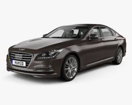 Genesis G80 with HQ interior 2016 3D model