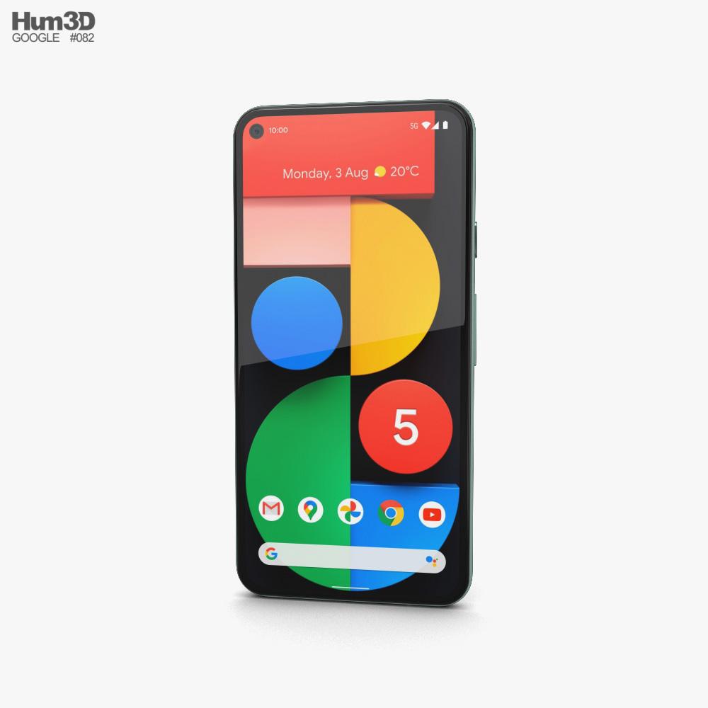 Google Pixel 5 Sorta Sage 3d model