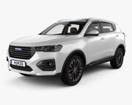 Great Wall Haval H6 with HQ interior 2019 3D model