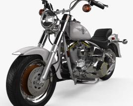 Harley-Davidson FLSTF Fat Boy 1990 3D model