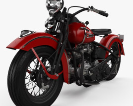 Harley-Davidson Panhead E F 1948 3D model