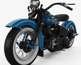 Harley-Davidson Knuchlehead OHV 1941 3D model