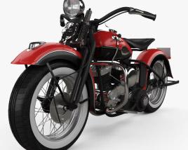 Harley-Davidson 45 WL 1940 3D model