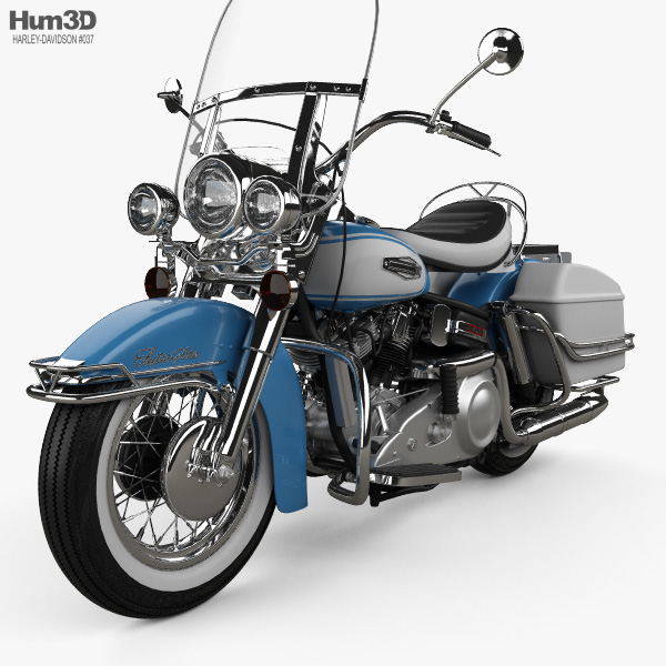Harley-Davidson FLH Electra Glide Shovelhead 1966 3D model