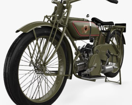 Harley-Davidson 19W Sport Twin 1919 3D model