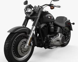 Harley-Davidson FLSTFB Softail Fat Boy Lo 2010 3D model
