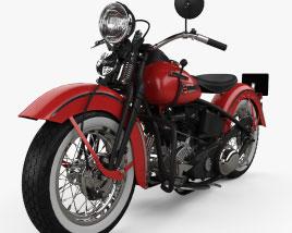 Harley-Davidson FL1200 Type74 Knucklehead 1946 3D model
