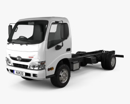 Hino 300-616 Chassis Truck 2011 3D model