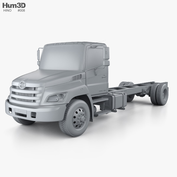 Hino 268 A Chassis Truck 2007 3D model