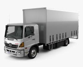 Hino 500 FD (1027) Load Ace Box Truck 2008 3D model