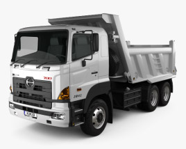 Hino 700 (2841) Tipper Truck 2009 3D model
