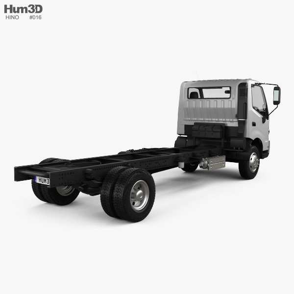 Hino 195 Chassis Truck with HQ interior 2012 3D model