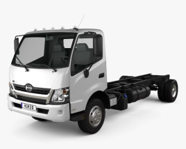 Hino 195 Chassis Truck 2012 3D model