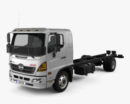 Hino 500 FD (1124) Chassis Truck 2016 3D model