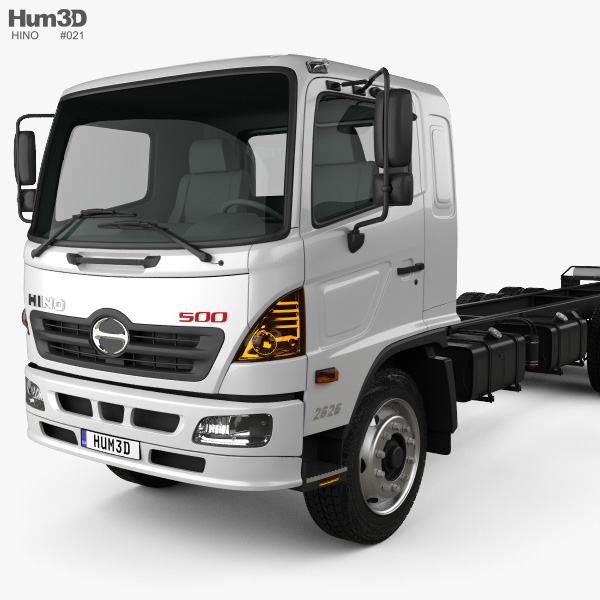 Hino 500 Fc Lwb Chassis Truck 2016 3d Model Vehicles On Hum3d