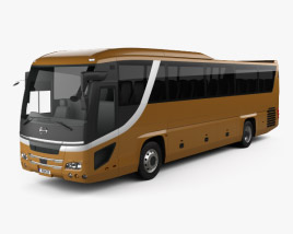 Hino S'elega Super High Decca Bus 2015 3D model