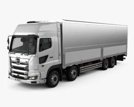 Hino 700 Profia Box Truck 4-axle 2017 3D model