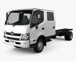 Hino 300 Crew Cab Chassis Truck 2012 3D model