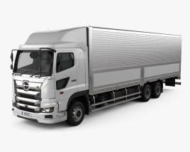 Hino 700 Profia Box Truck 3-axle 2017 3D model