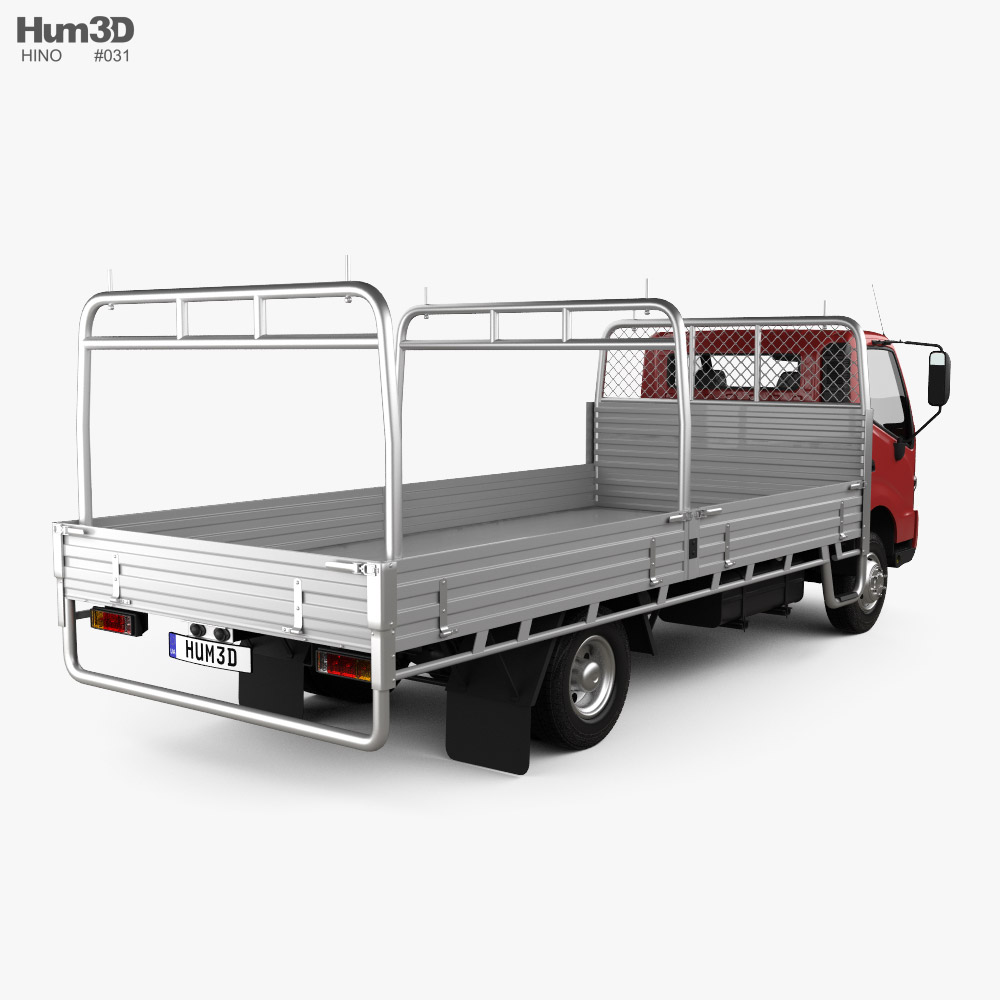 Hino 300 Flatbed Truck 2020 3d model