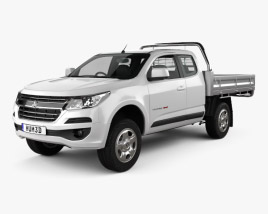 Holden Colorado LS Space Cab Alloy Tray 2016 3D model