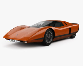Holden Hurricane 1969 3D model