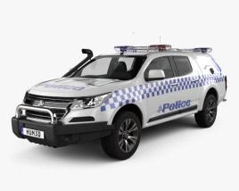 Holden Colorado Crew Cab Divisional Van 2016 3D model