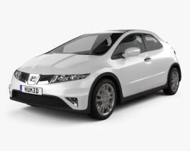 Honda Civic TypeR 2007 3D model