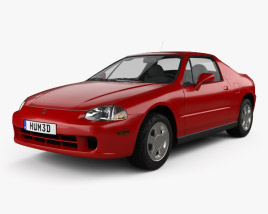Honda Civic del Sol 1993 3D model