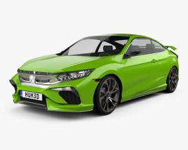 Honda Civic coupe Concept 2015 3D model