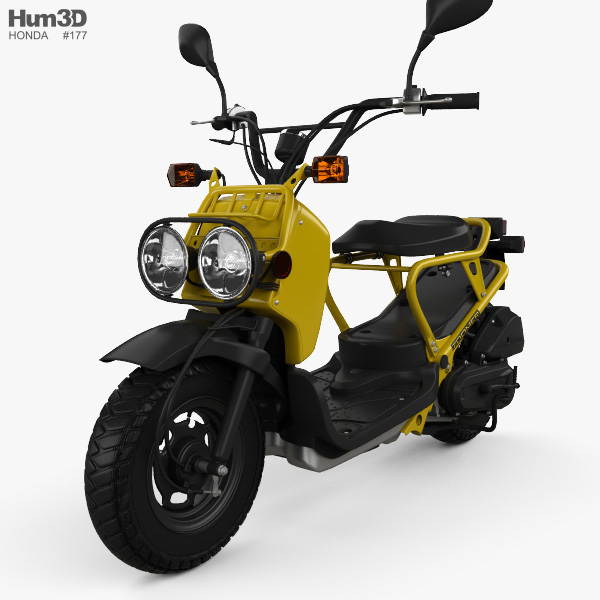 honda nps50 zoomer ruckus 2005 3d model vehicles on hum3d. Black Bedroom Furniture Sets. Home Design Ideas