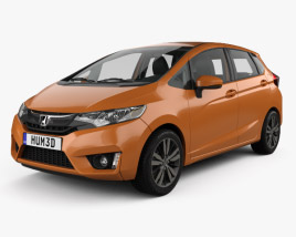 Honda Jazz with HQ interior 2016 3D model