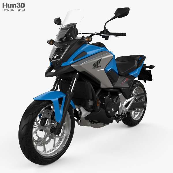 honda nc750x 2016 3d model vehicles on hum3d. Black Bedroom Furniture Sets. Home Design Ideas