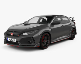 Honda Civic Type R Prototype 5-door hatchback 2016 3D model
