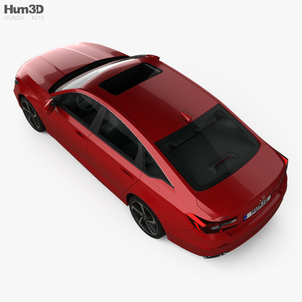 Honda Accord Sport US-spec sedan 2018 3D model - Hum3D