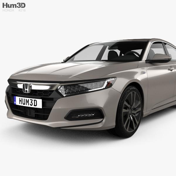 Honda Accord 2018 Spec >> Honda Accord Touring Hybrid US-spec sedan 2018 3D model - Hum3D