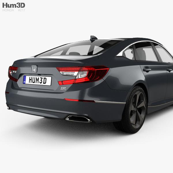 Honda Accord 2018 Spec >> Honda Accord Touring US-spec sedan 2018 3D model - Hum3D