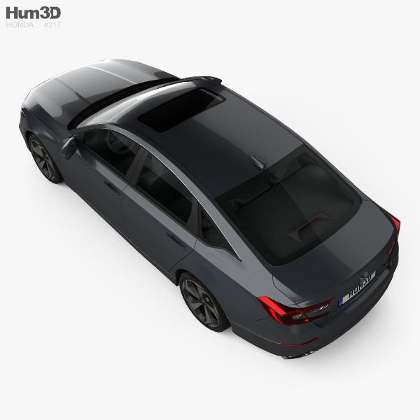 Honda Accord Touring US-spec sedan 2018 3D model - Hum3D