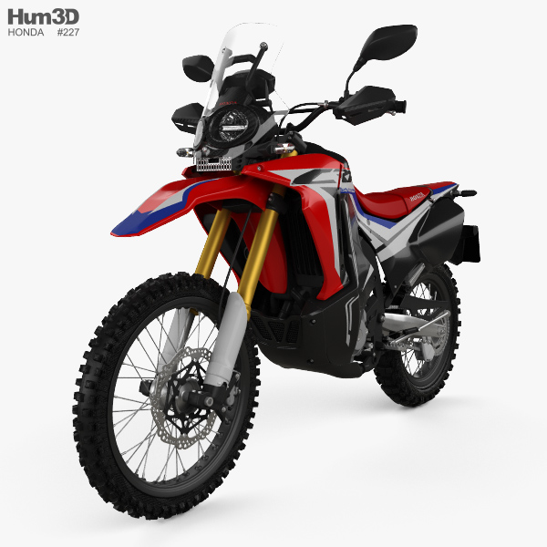 honda crf250l rally 2017 3d model vehicles on hum3d. Black Bedroom Furniture Sets. Home Design Ideas