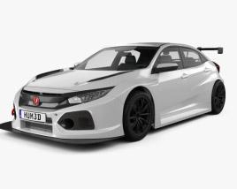 Honda Civic TCR hatchback 2018 3D model