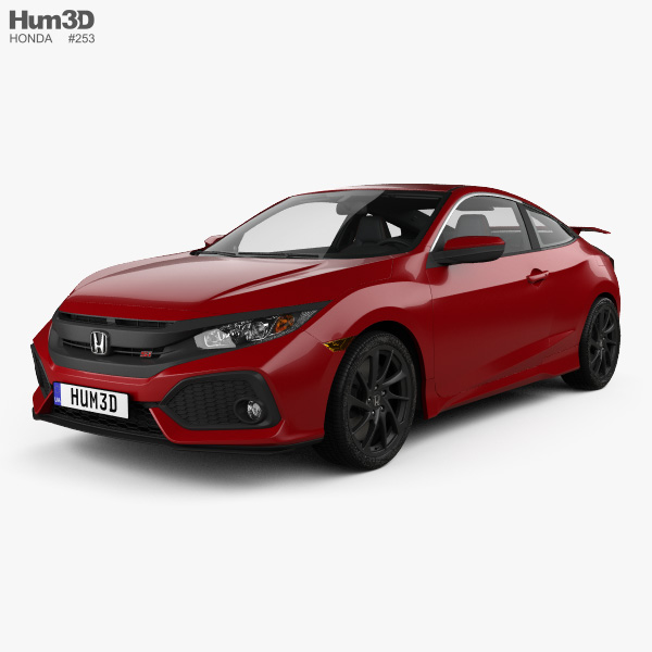 Honda civic si coupe with hq interior 2016 3d model - 2016 honda civic si coupe interior ...