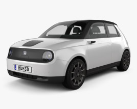 Honda e 2019 3D model