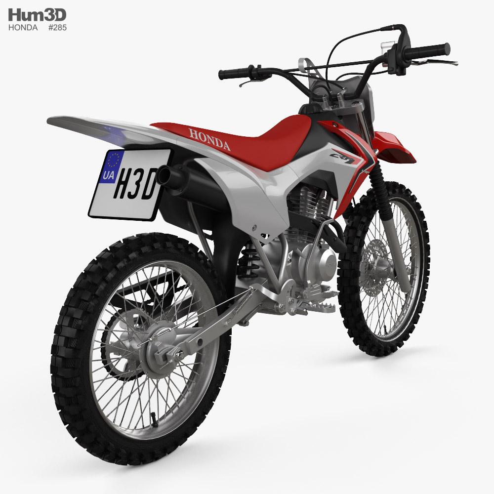 Honda CRF125F 2013 3d model