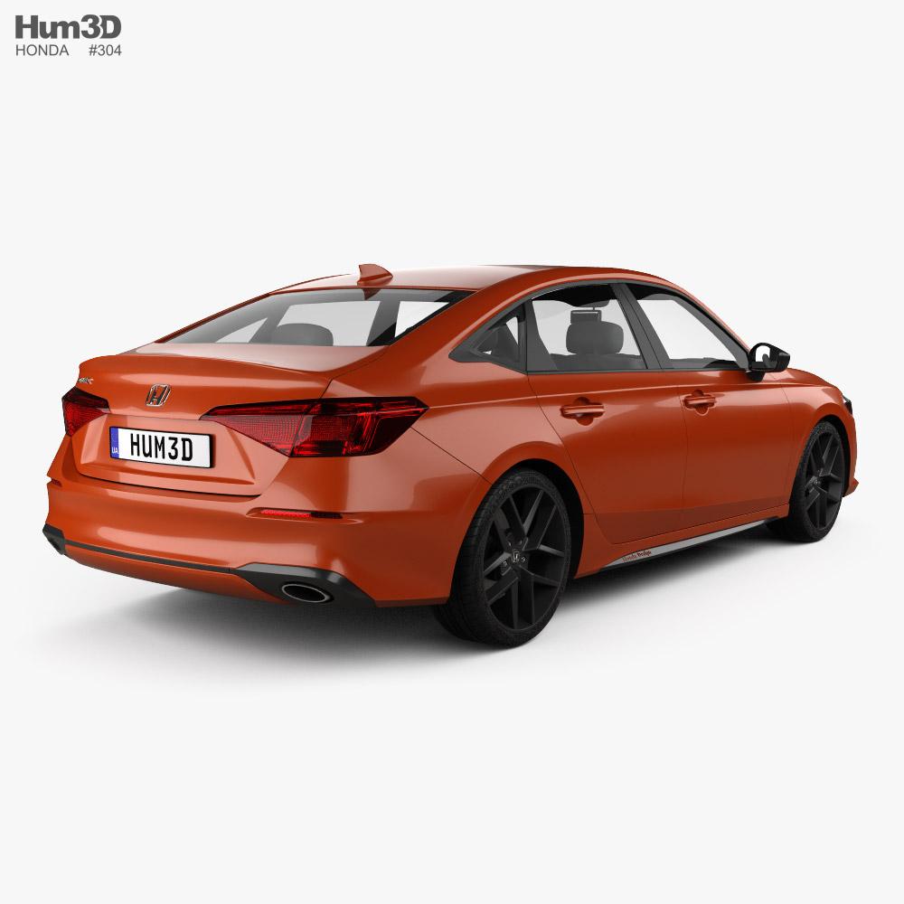 Honda Civic sedan 2022 3d model