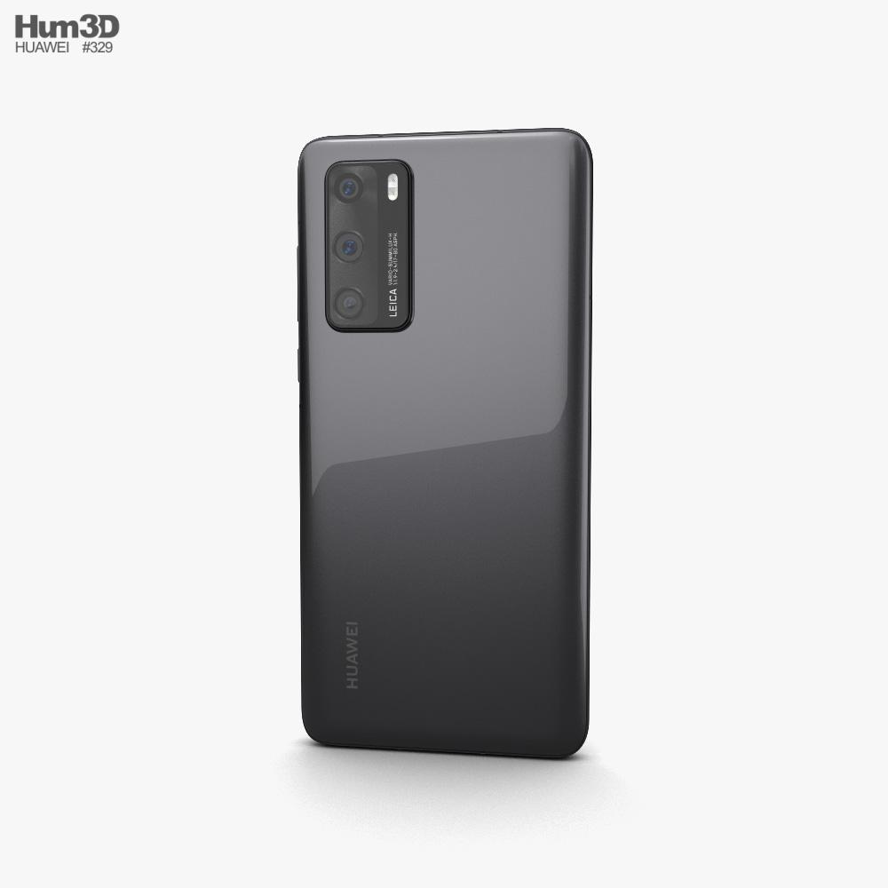 Huawei P40 Black 3d model