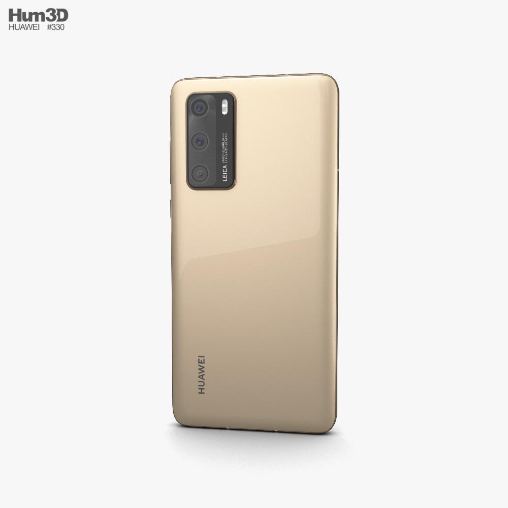 Huawei P40 Blush Gold 3d model