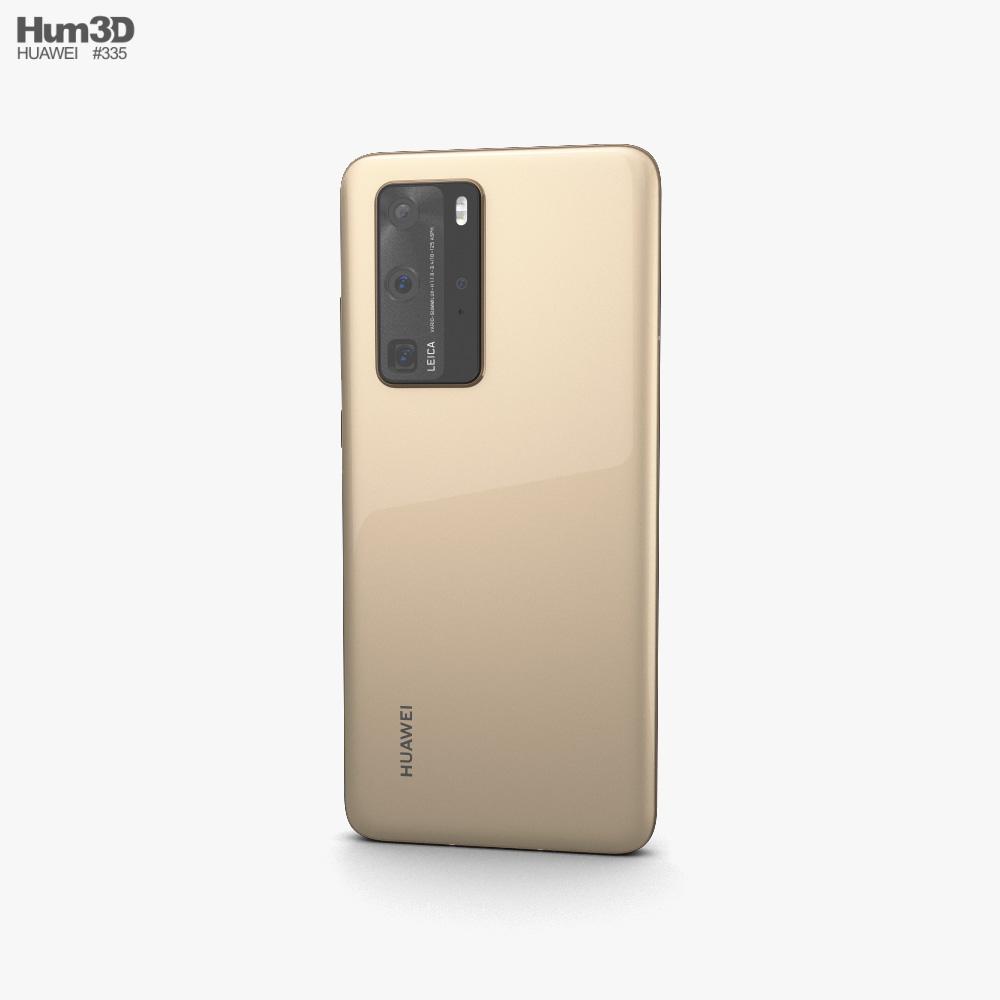 Huawei P40 Pro Blush Gold 3d model
