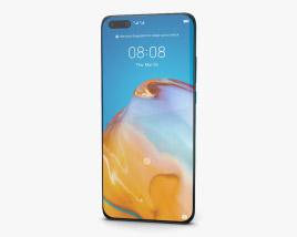 Huawei P40 Pro Deep Sea Blue 3D model